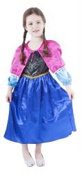 Dětský karnevalový kostým princezna zimní království velikost S
