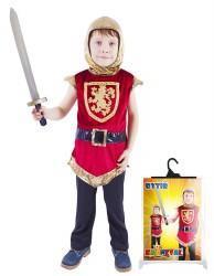 Dětský karnevalový kostým rytíř s erbem velikost S