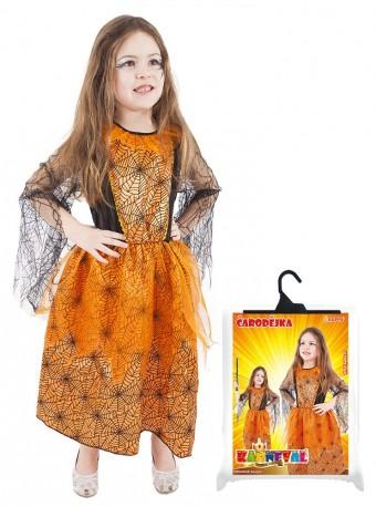 Dětský karnevalový kostým oranžový halloween velikost M