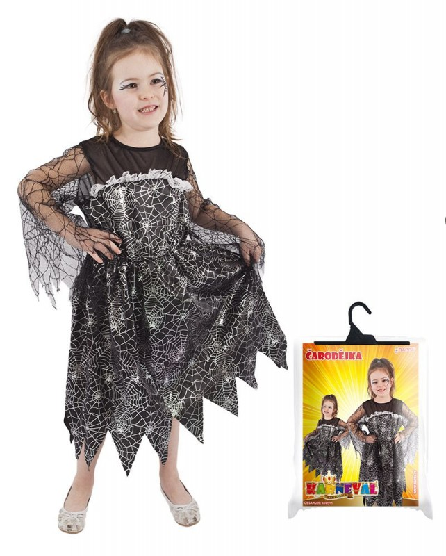 Dětský karnevalový kostým čarodějnice / halloween velikost S