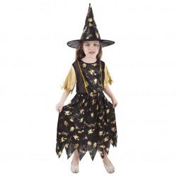 Dětský karnevalový kostým čarodějnice velikost M