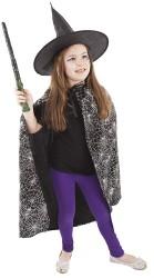 Dětský karnevalový kostým čarodějnický plášť + klobouk 3 - 10 let