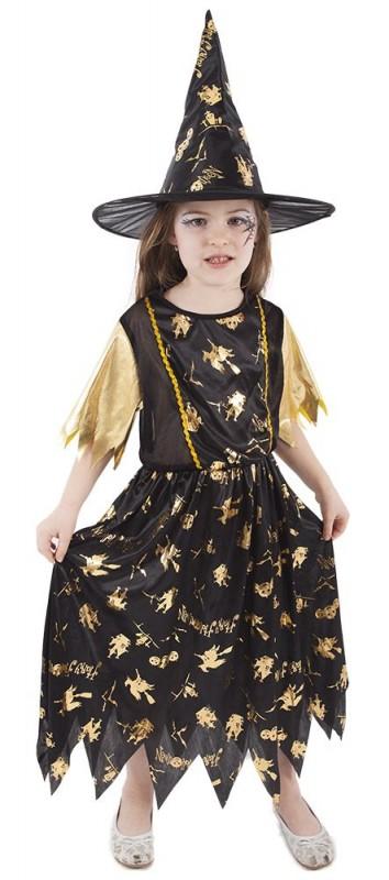 Dětský karnevalový kostým čarodějnice velikost S