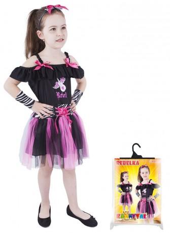 Dětský karnevalový kostým rebelka velikost S