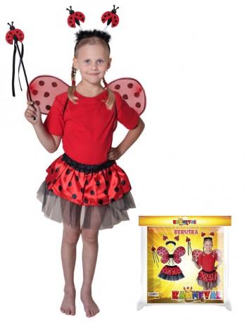 Dětský karnevalový kostým beruška 104 - 150 cm