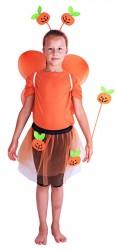Dětský karnevalový kostým dýně s křídly