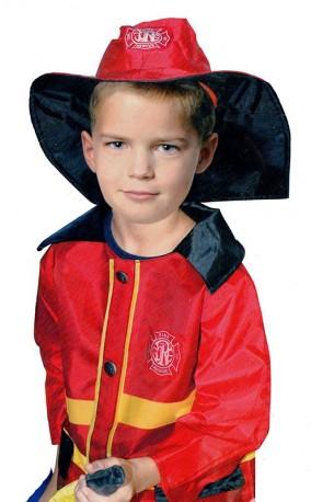 Dětský karnevalový kostým hasič / požárník 104 - 122 cm