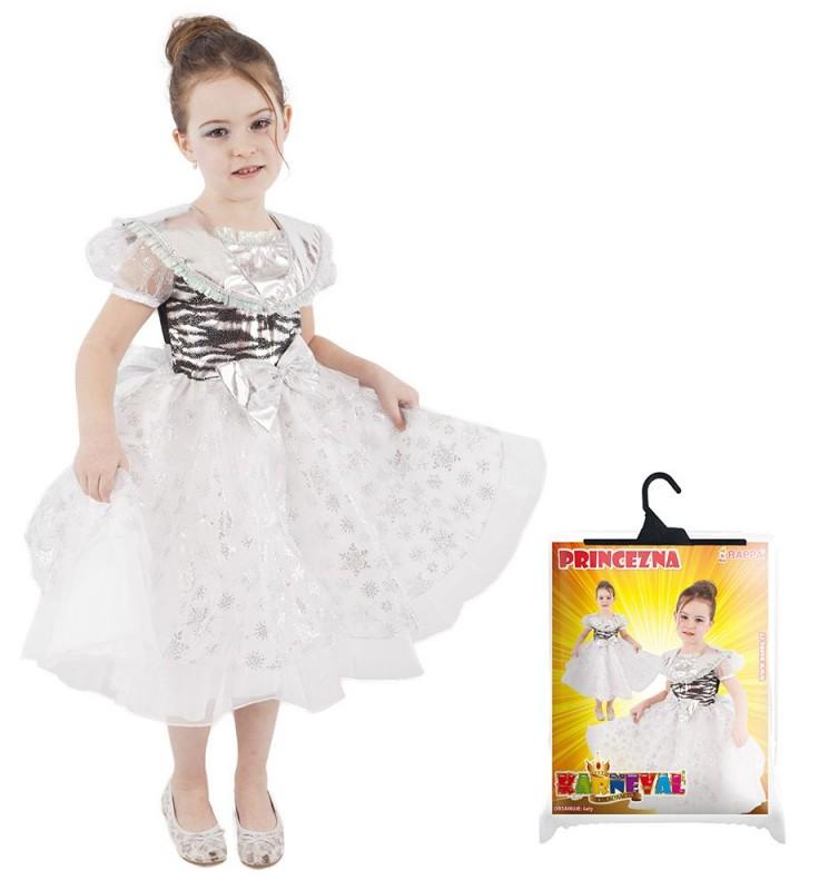 Dětský karnevalový kostým sněhová vločka velikost S