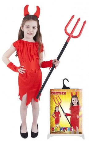 Dětský karnevalový kostým čertice červená velikost M