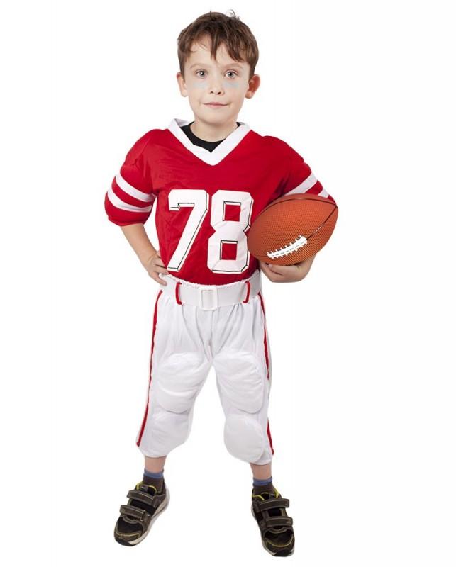 Dětský karnevalový kostým fotbalový / ragbyový hráč velikost L