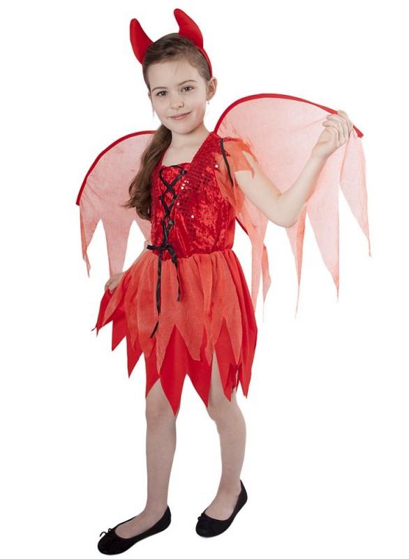 Dětský karnevalový kostým čertice velikost S
