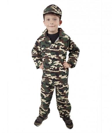 Dětský karnevalový kostým ARMY - voják velikost M