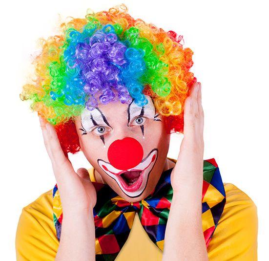 Paruka pro dospělé klaun barevná