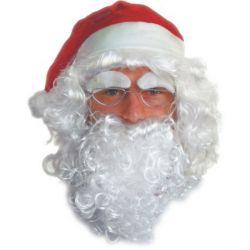 Paruka pro dospělé Santa Claus s brýlemi