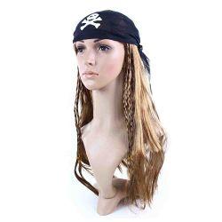 Paruka pro dospělé pirátská se šátkem