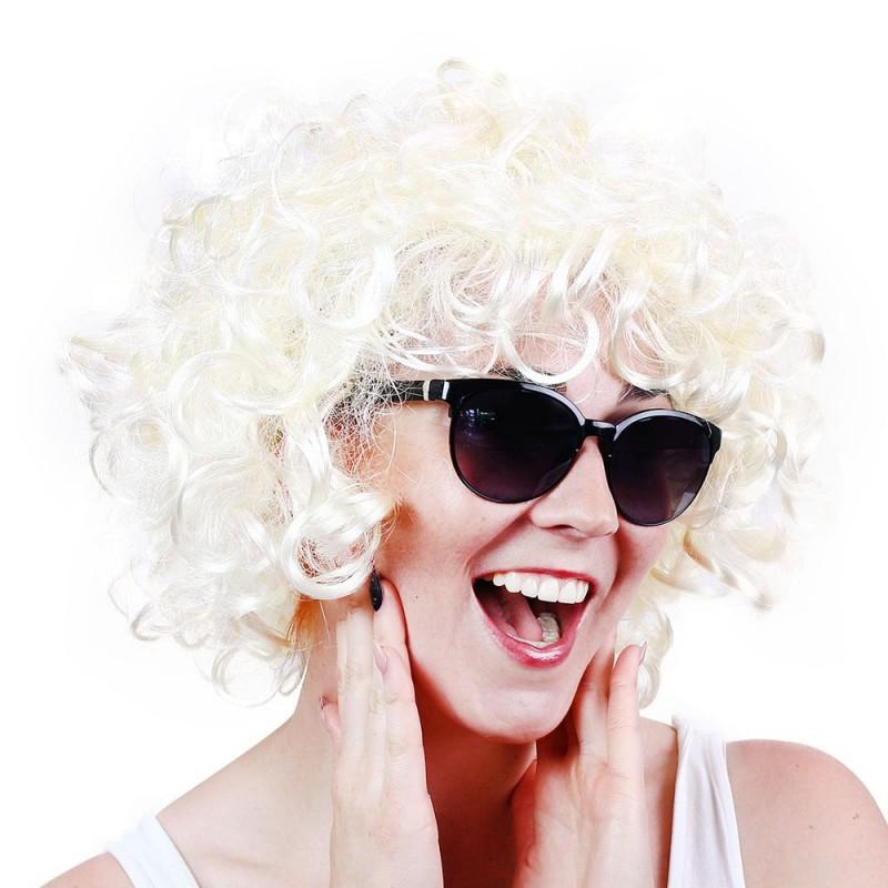 Paruka pro dospělé blond kudrny