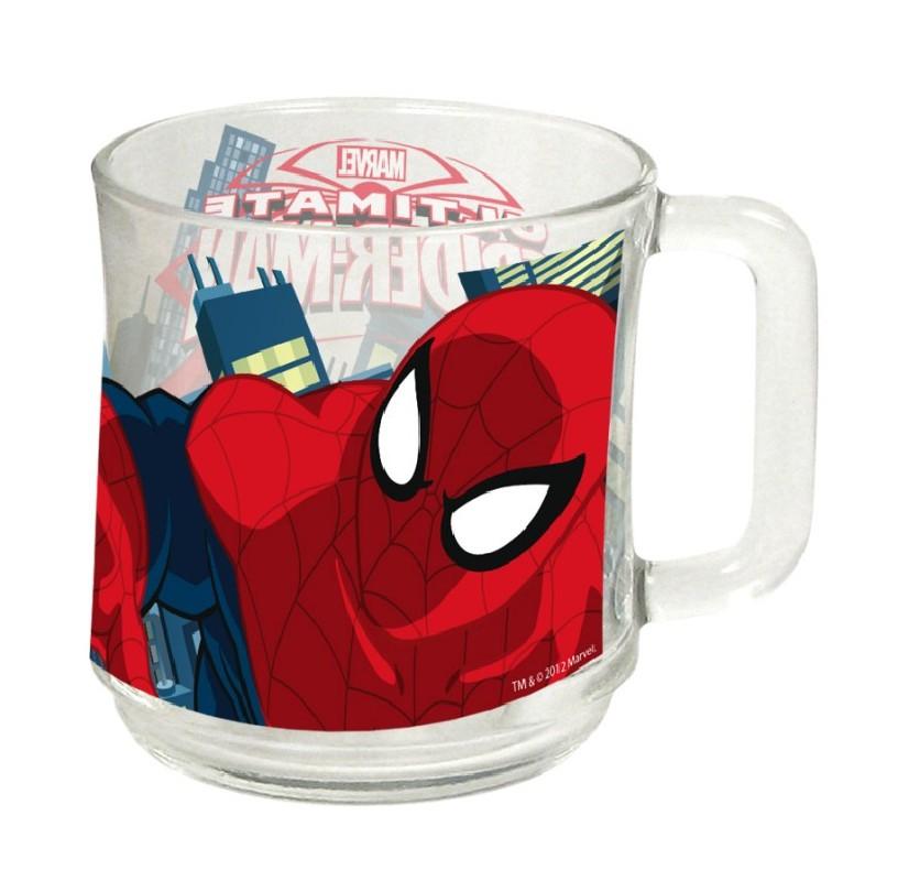 Hrnek skleněný Spiderman 2. jakost