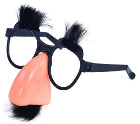 Karnevalové brýle s nosem / knírem / obočím