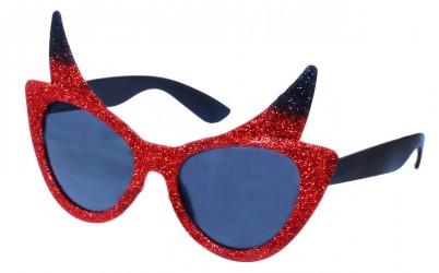 Karnevalové brýle s růžky čertice