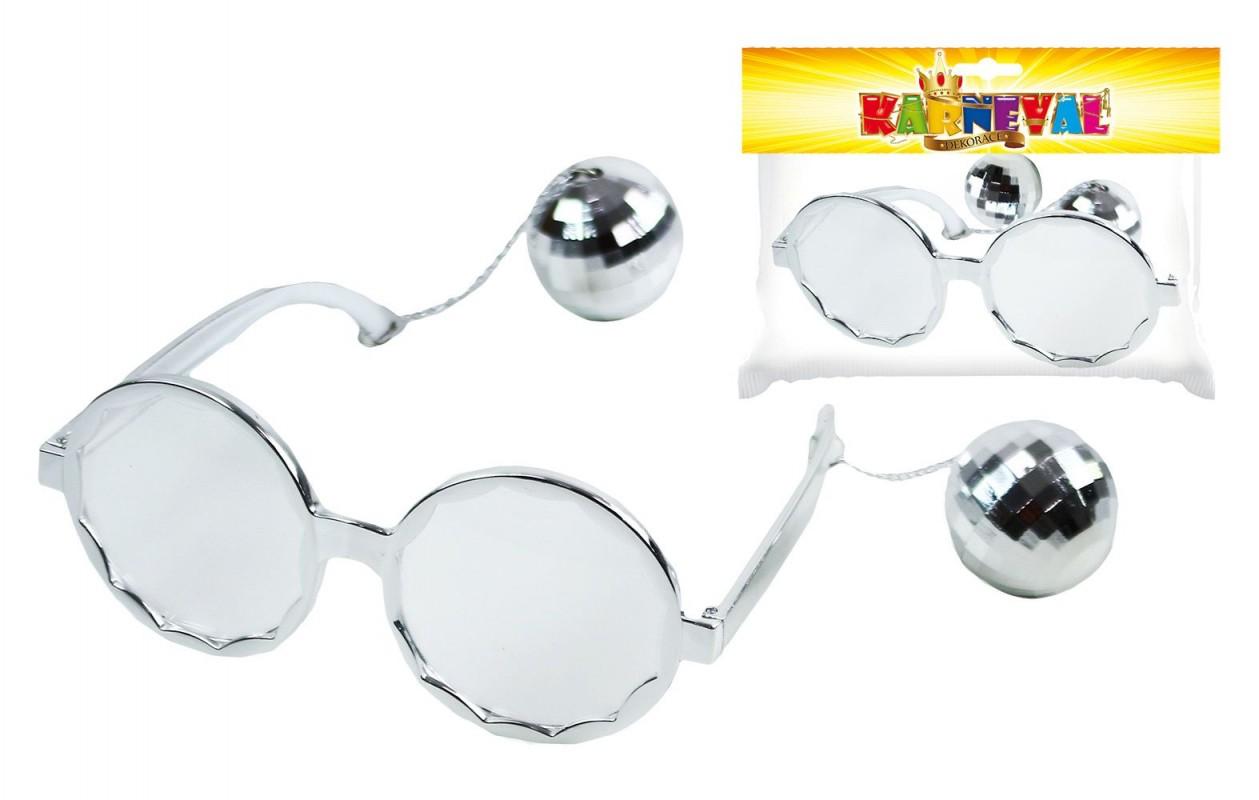 Karnevalové brýle discokoule pro dospělé