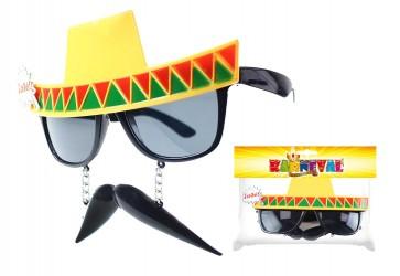 Karnevalové brýle Mexico pro dospělé