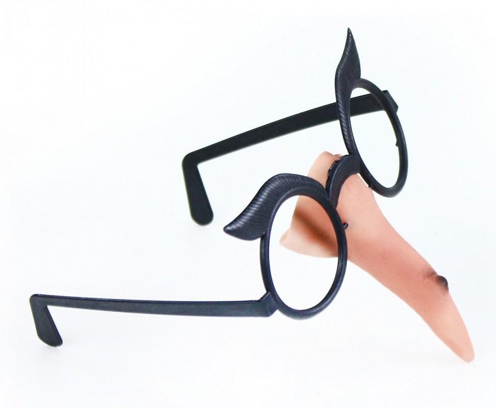 Karnevalový nos čarodějnický s brýlemi