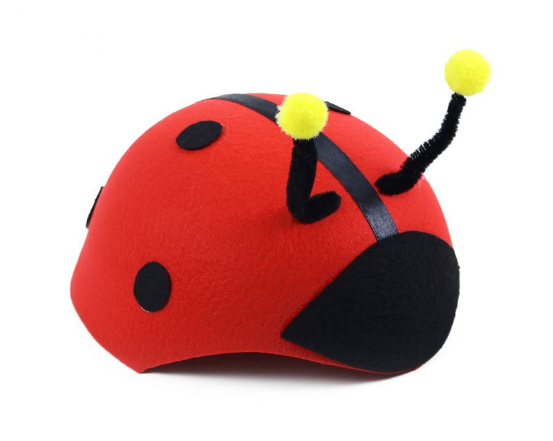 Dětský klobouk beruška s tykadly červený