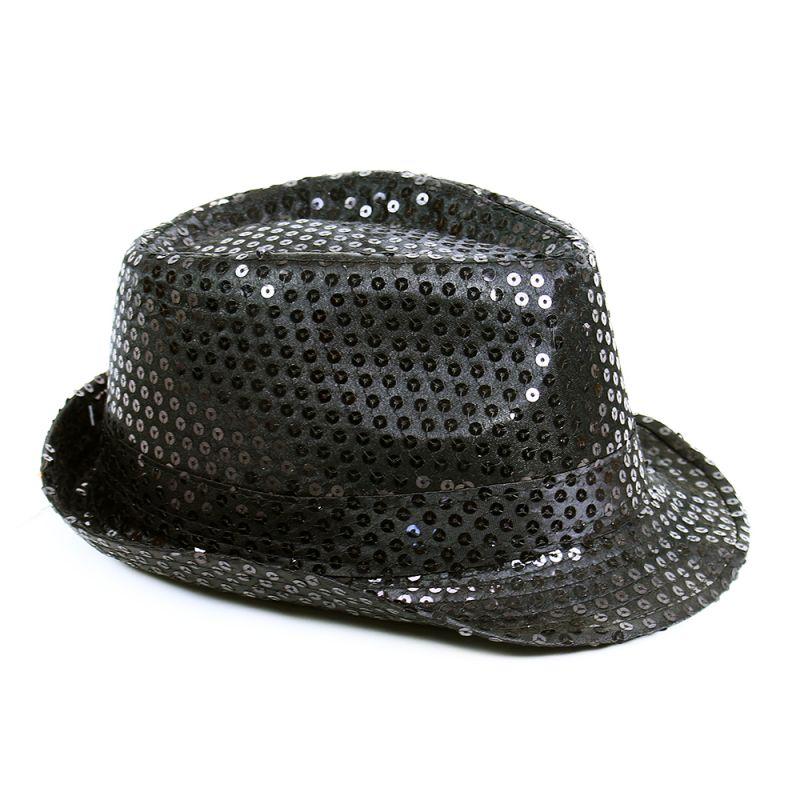 Klobouk disco černý pro dospělé - Michael Jackson style