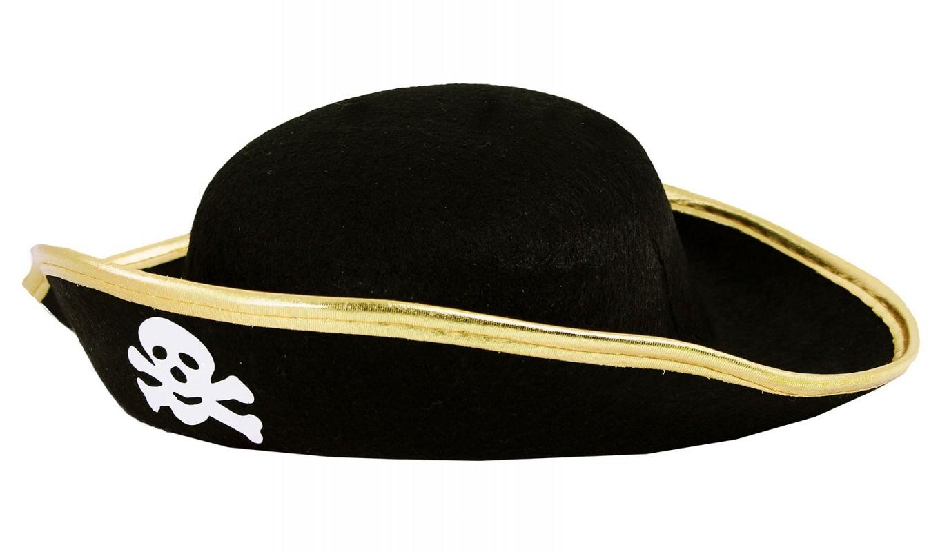 Dětský klobouk pirát s lebkou