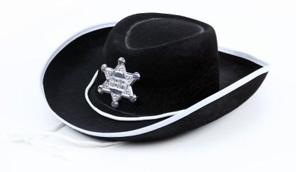 Dětský klobouk kovboj Sheriff černý