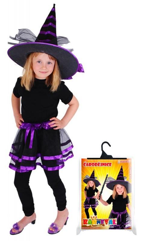 Dětská sukně TUTU čarodějnice / halloween s kloboukem