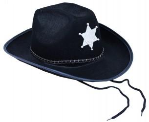 Klobouk šerif pro dospělé černý