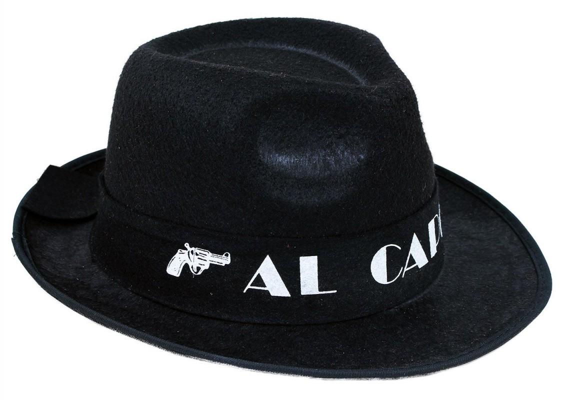 Klobouk Al Capone pro dospělé černý