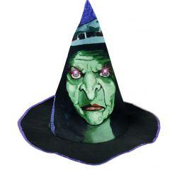 Dětský klobouk čaroděj / halloween dětský, světlo + zvuk