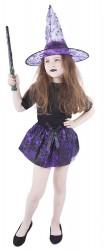 Dětská sukně a klobouk pavučina fialový