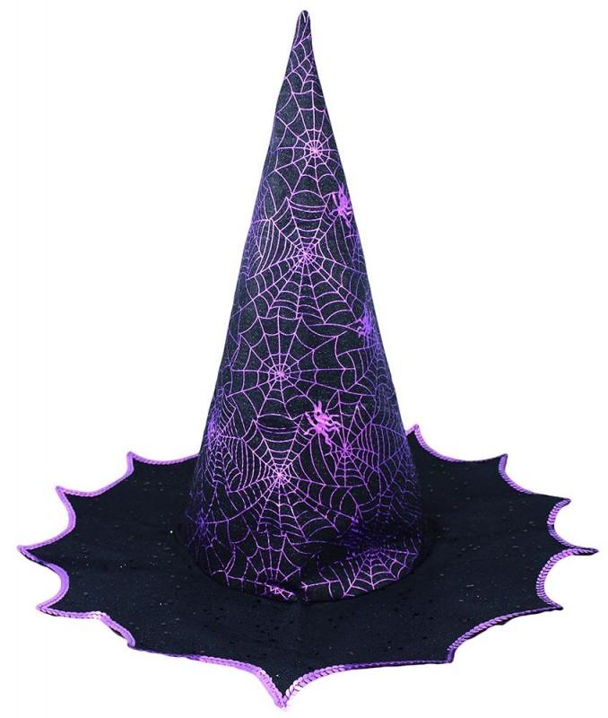 Klobouk čarodějnice pro dospělé / karneval / halloween / pavučina