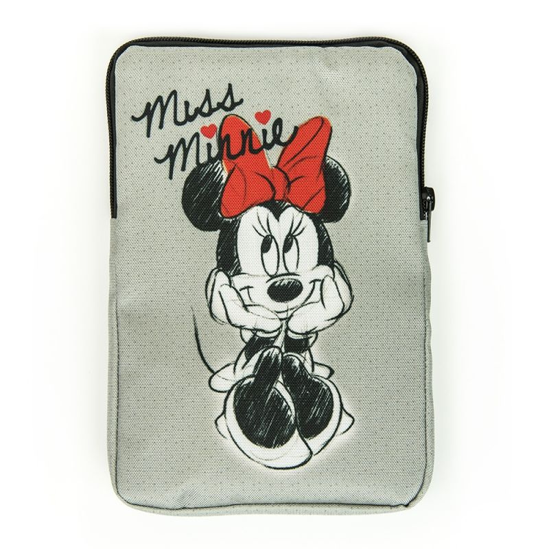 "Obal na tablet 7"" Minnie Mouse šedý 22 x 15 x 1,5 cm"