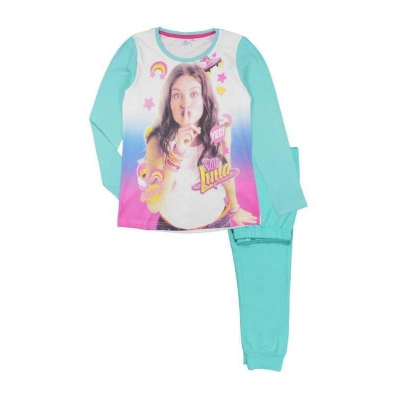 Dívčí pyžamo s dlouhým rukávem Soy Luna bledě modré 122 - 152 cm