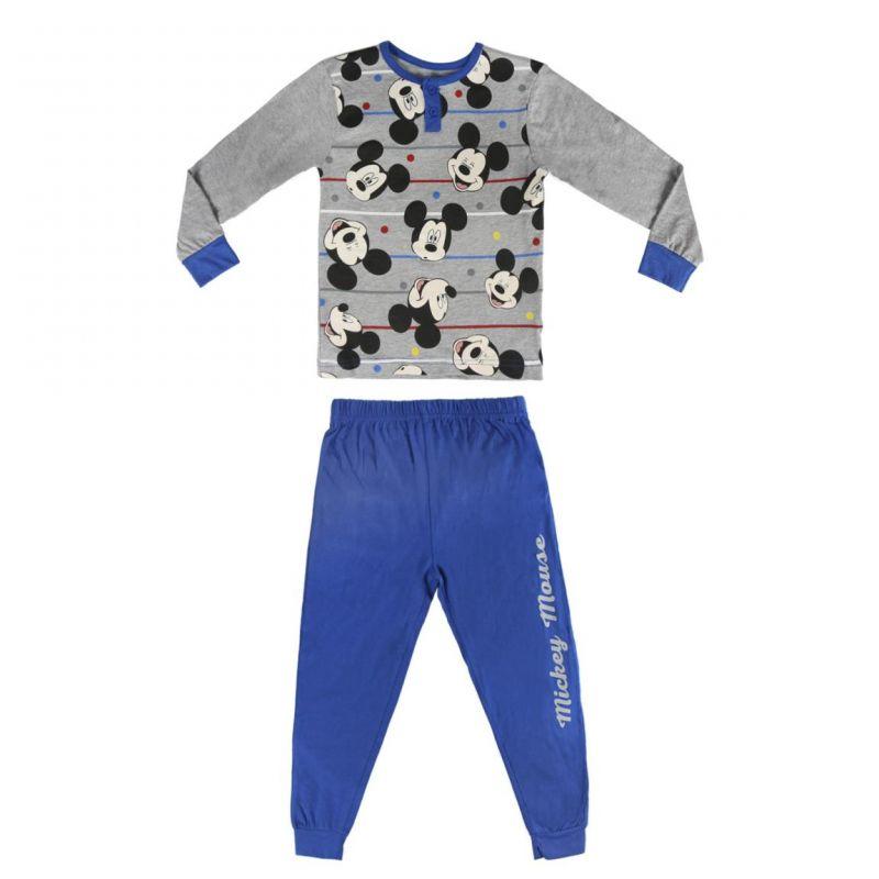 Chlapecké pyžamo s dlouhým rukávem modro / šedé Mickey Mouse 3 - 6 let