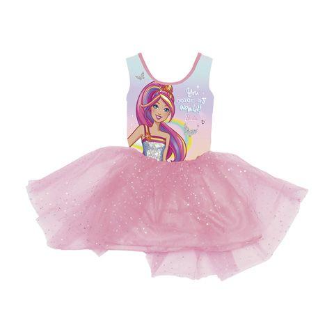 Dívčí šaty s Barbie růžové 92 - 116 cm