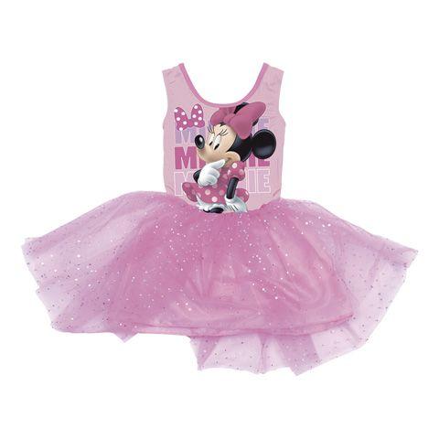 Dívčí šaty s Myškou Minnie / Minnie Mouse růžové 92 - 116 cm