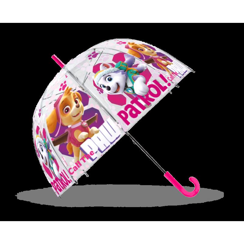 Dívčí průhledný deštník Paw Patrol 48 cm