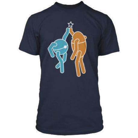 Pánské tričko s krátkým rukávem s motivem PC hry Portal 2 velikost M