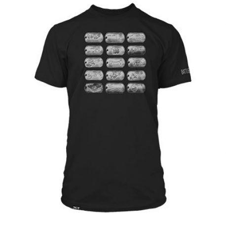 Pánské černé tričko s krátkým rukávem s motivem PC hry Battlefield 4 velikost M