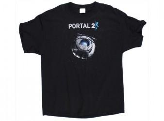 Pánské tričko s krátkým rukávem s motivem PC hry Portal 2 ROBOT velikost XL