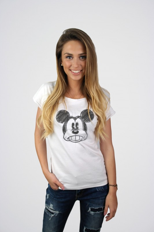 Dámské tričko s krátkým rukávem Mickey Mouse velikost S / M / vecizfilmu