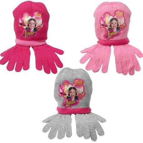 40a9d6c5a27 Hřejivá sada oblečení Soy Luna čepice a rukavice 52   54 cm