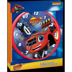 Nástěnné hodiny Blaze and The Monster Machine / Plamínek a čtyřkoláci