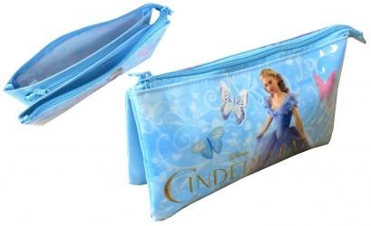 Kosmetická taštička se dvěmi přihrádkami modrá Popelka / Cinderella