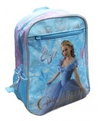 Dívčí batoh Popelka / Cinderella modrý 28 cm